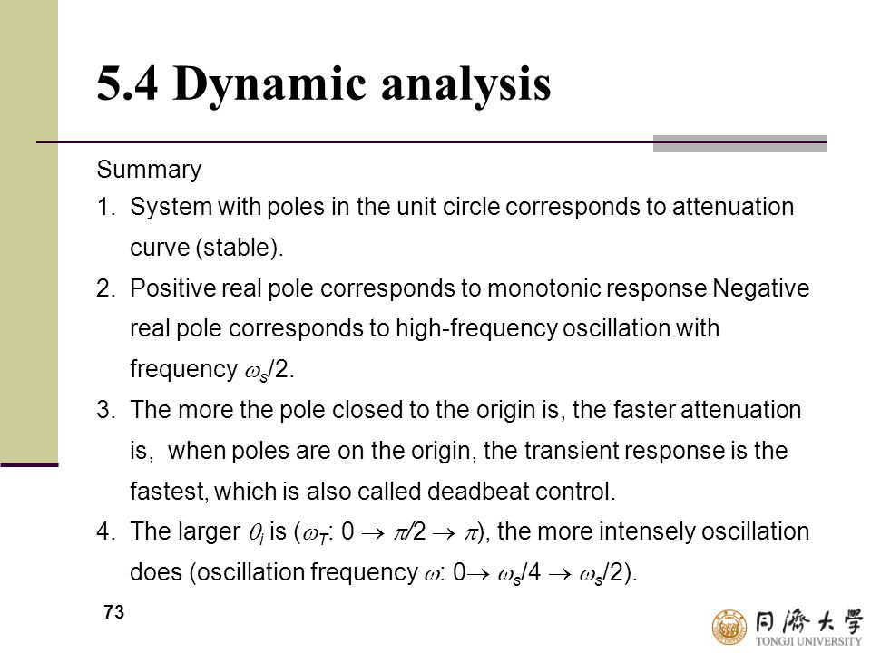 5.4 Dynamic analysis Summary