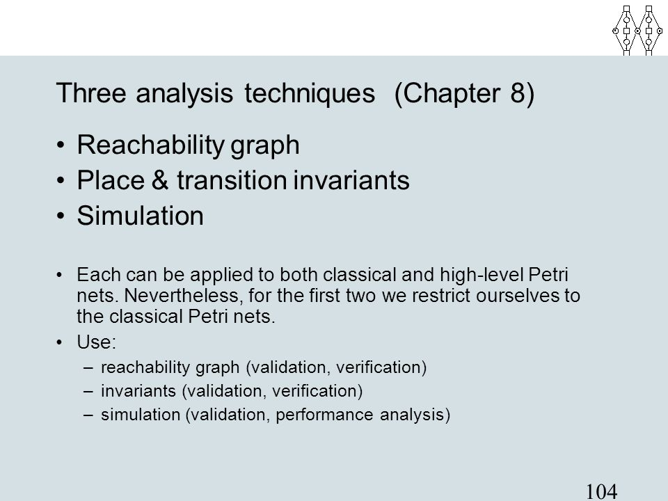 Three analysis techniques (Chapter 8)‏