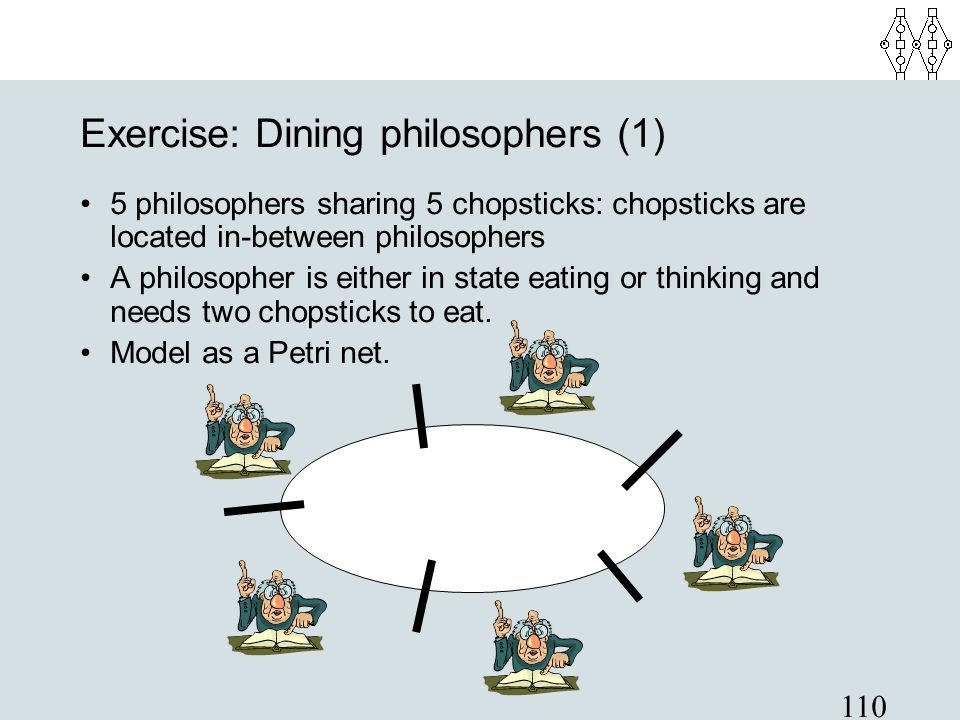 Exercise: Dining philosophers (1)‏