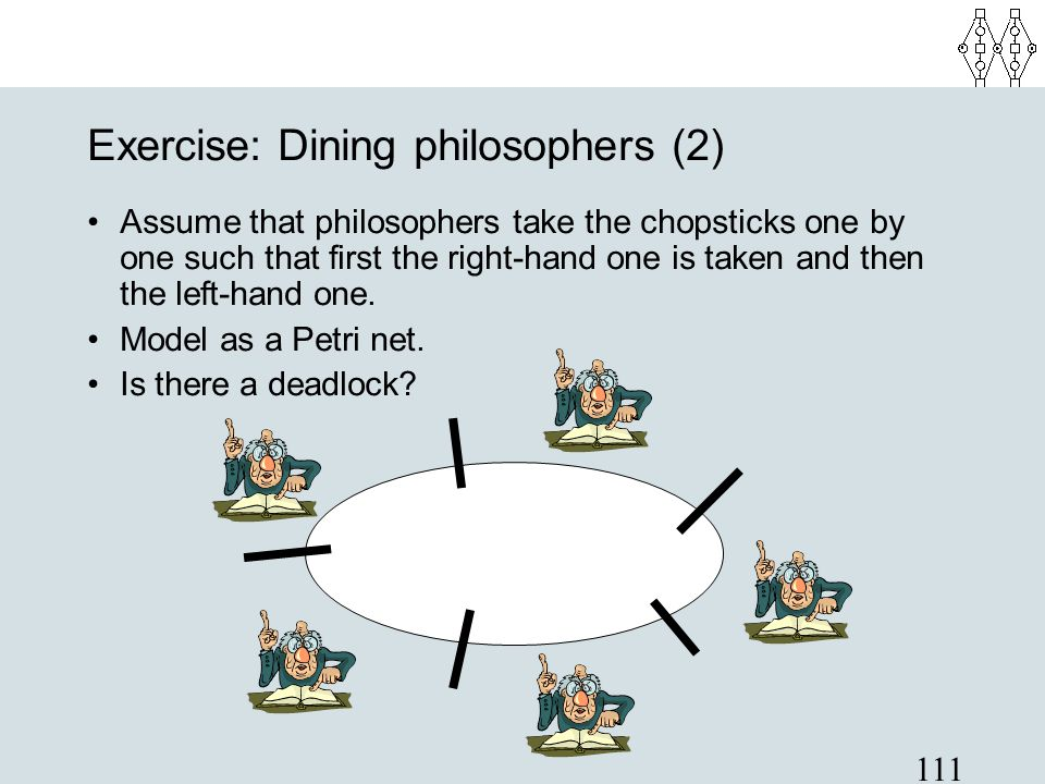 Exercise: Dining philosophers (2)‏