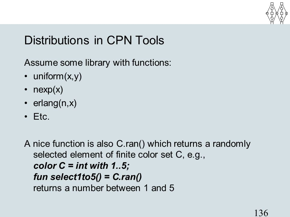 Distributions in CPN Tools