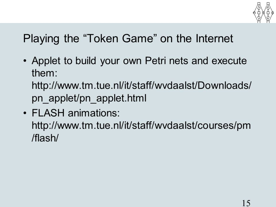 Playing the Token Game on the Internet