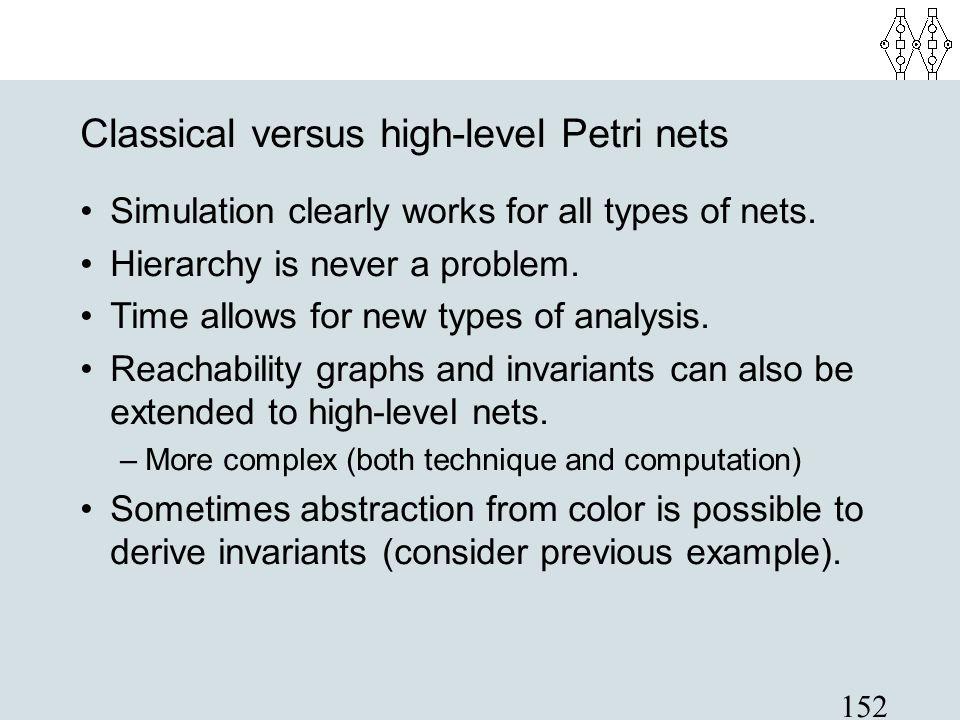 Classical versus high-level Petri nets