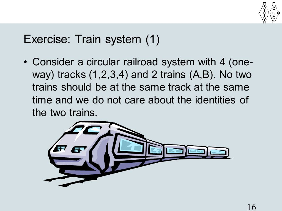 Exercise: Train system (1)‏