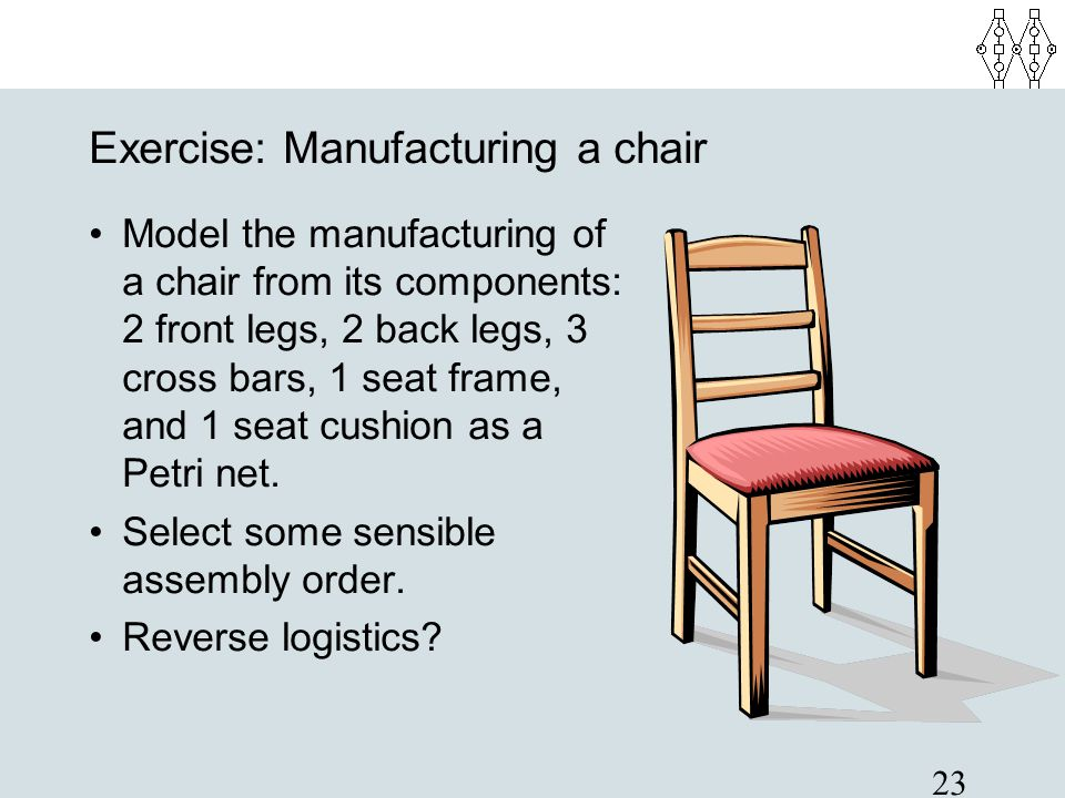 Exercise: Manufacturing a chair