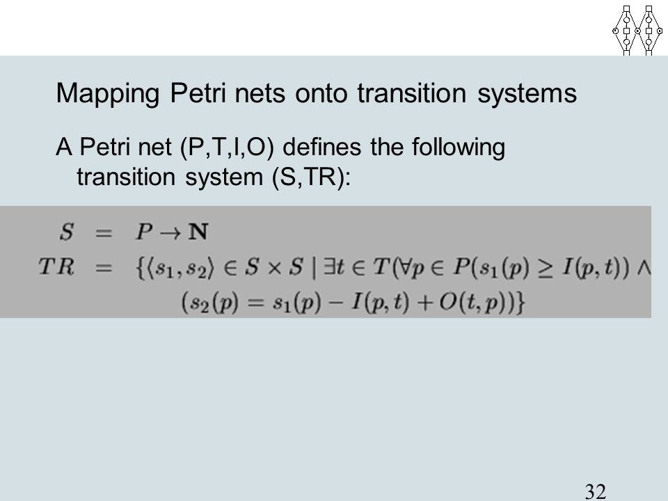 Mapping Petri nets onto transition systems