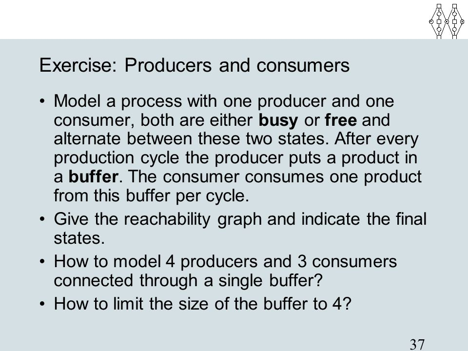 Exercise: Producers and consumers