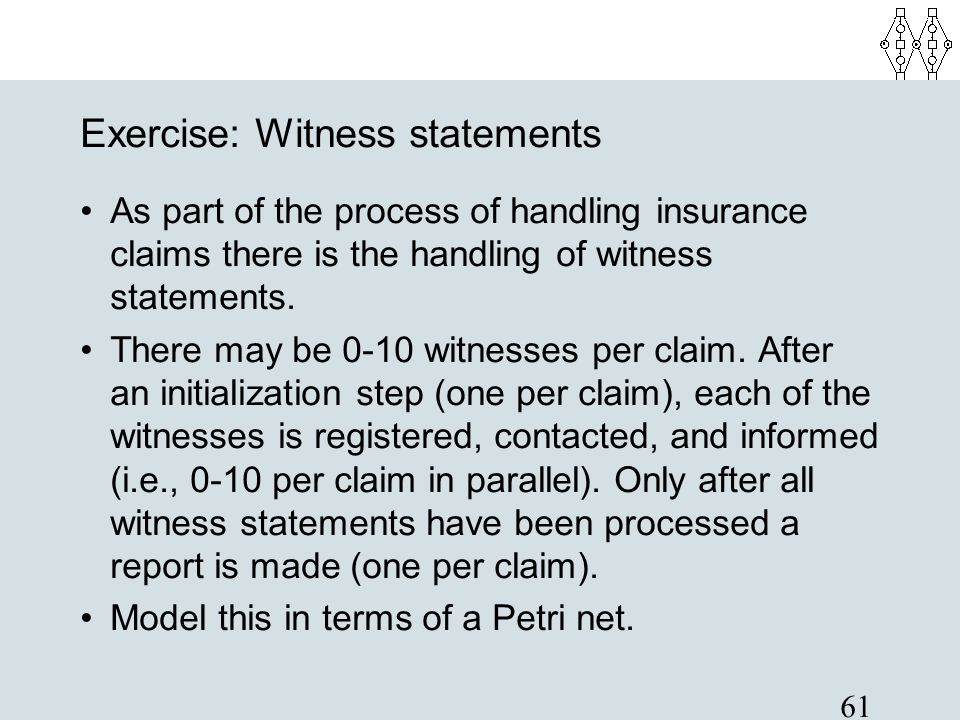 Exercise: Witness statements