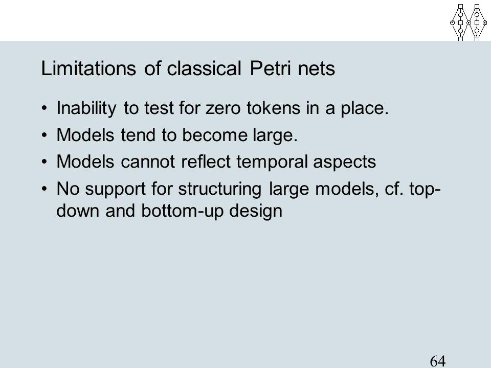 Limitations of classical Petri nets