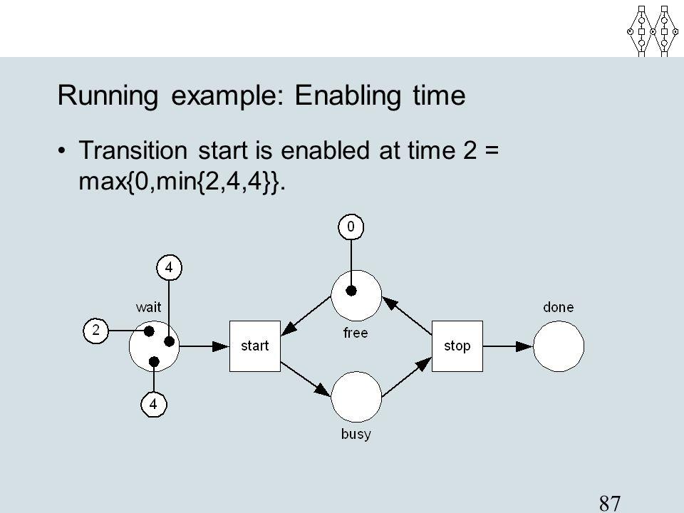 Running example: Enabling time