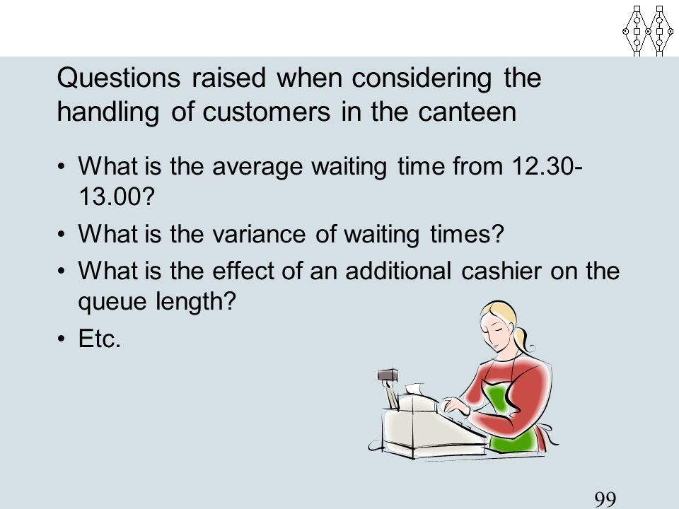Questions raised when considering the handling of customers in the canteen