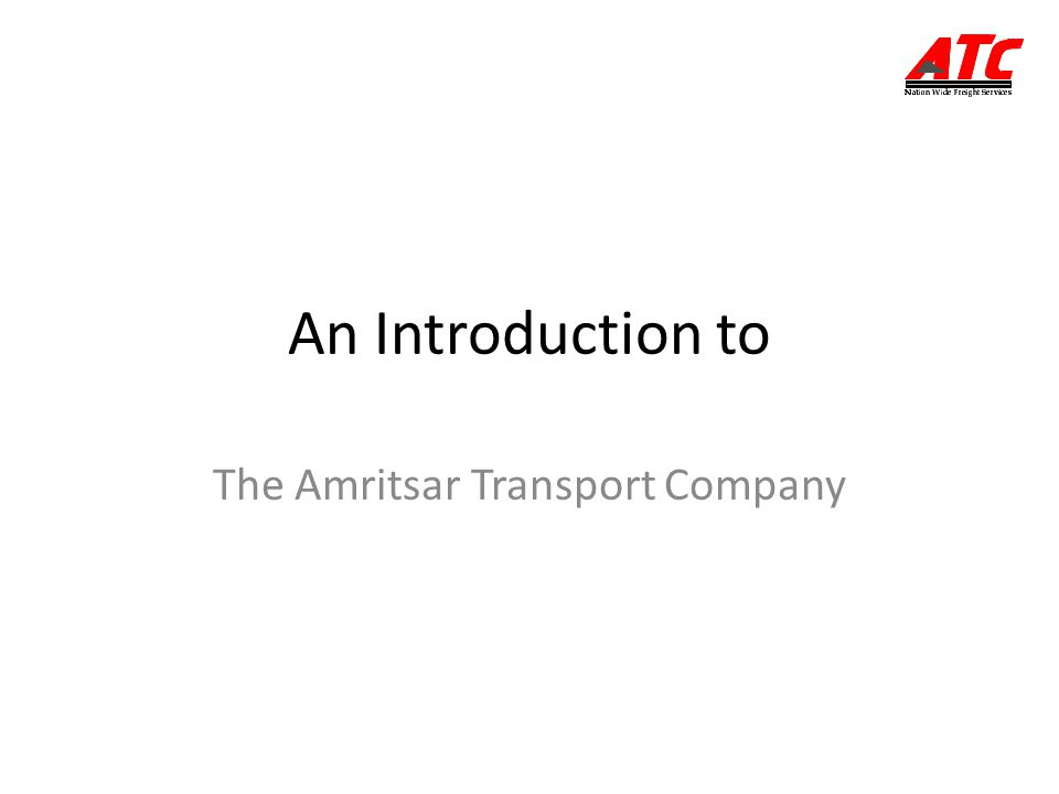 The Amritsar Transport Company