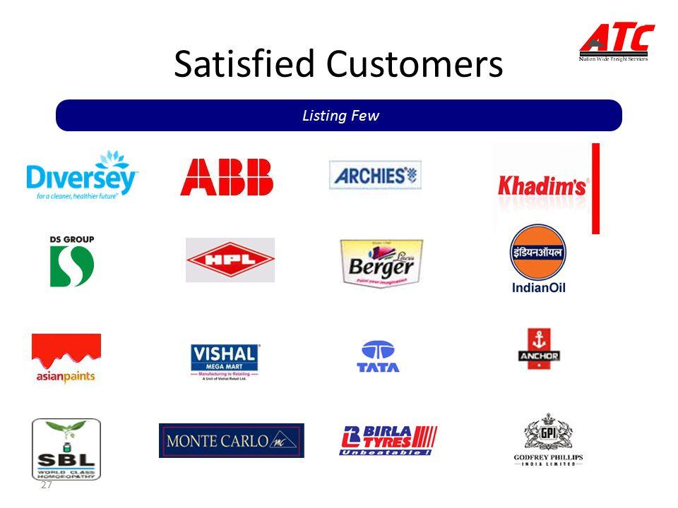 Satisfied Customers Listing Few 27 27