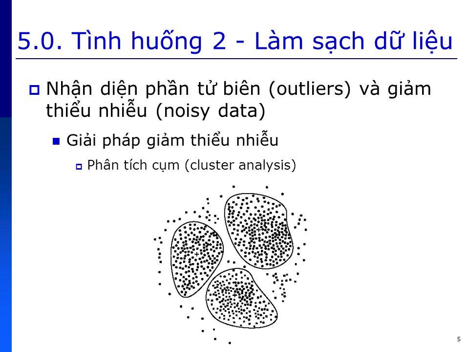 5.0. Tình huống 2 - Làm sạch dữ liệu