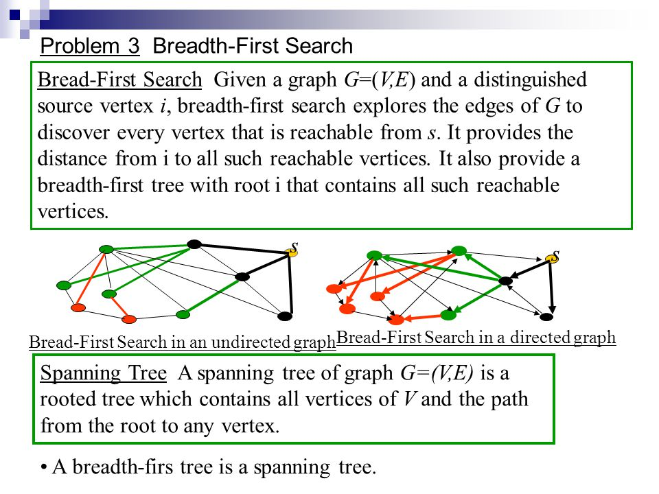 Problem 3 Breadth-First Search