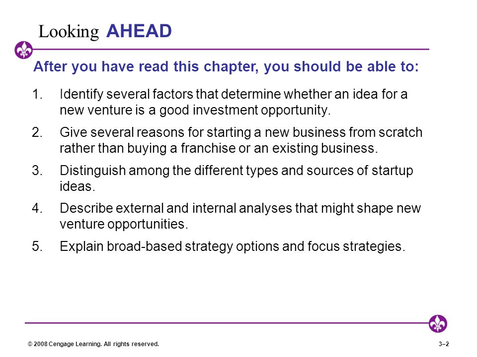 Looking AHEAD After you have read this chapter, you should be able to: