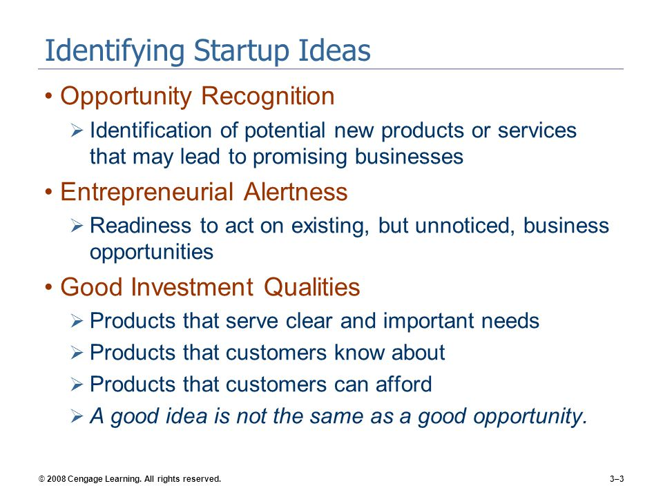 Identifying Startup Ideas