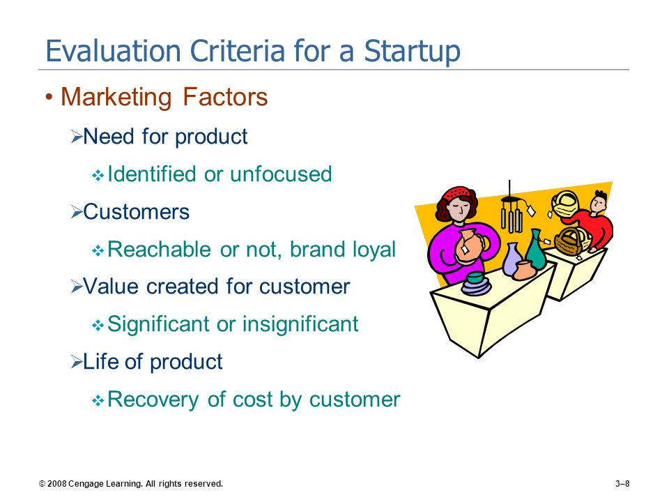 Evaluation Criteria for a Startup