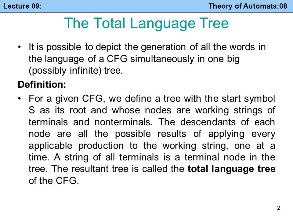 The Total Language Tree