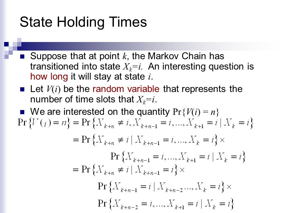 State Holding Times