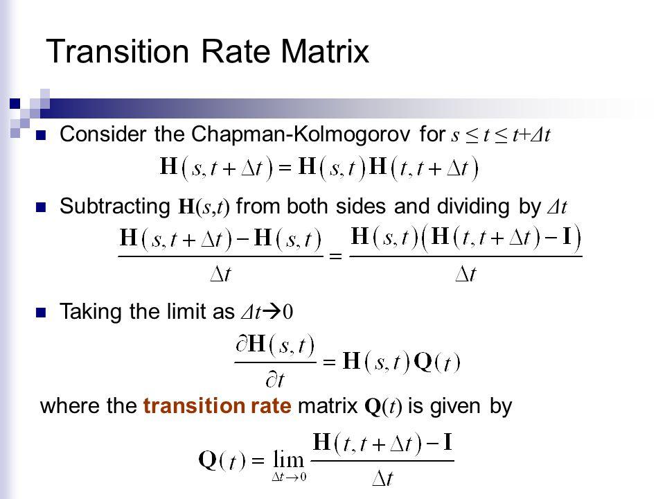 Transition Rate Matrix