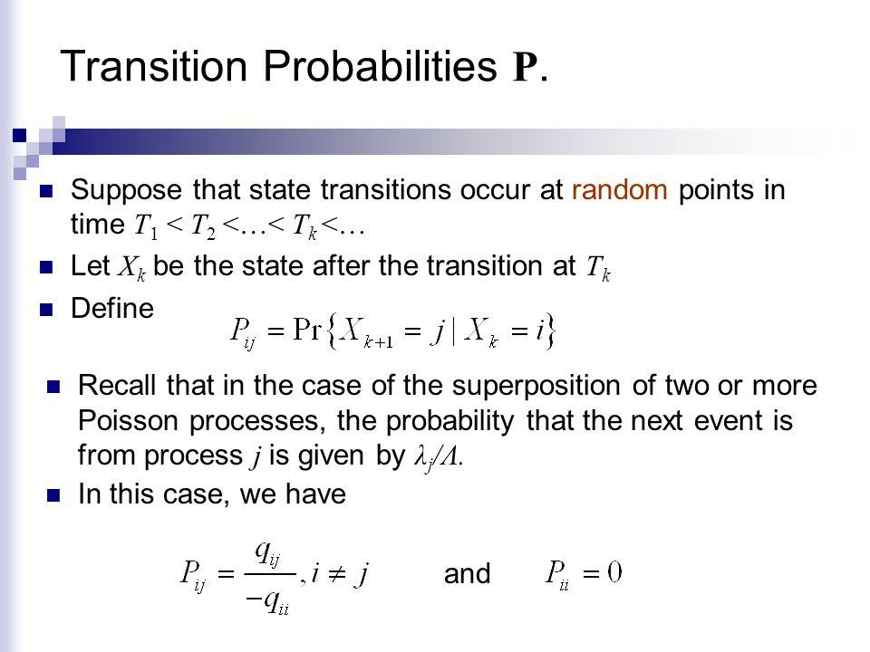 Transition Probabilities P.