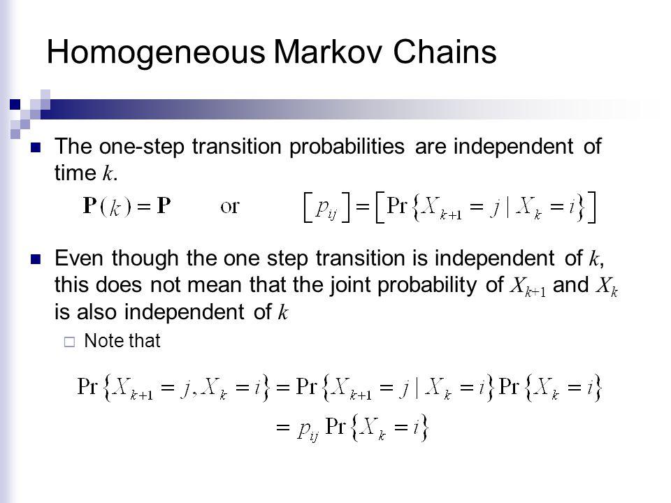 Homogeneous Markov Chains