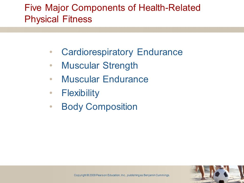 Five Major Components of Health-Related Physical Fitness