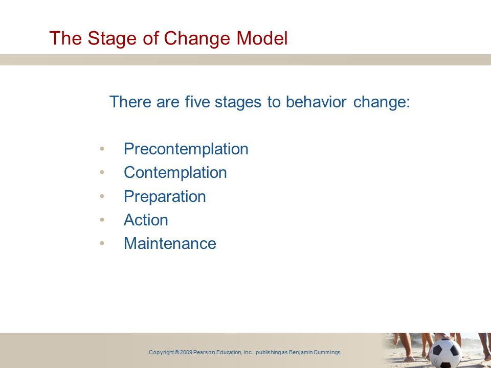 The Stage of Change Model
