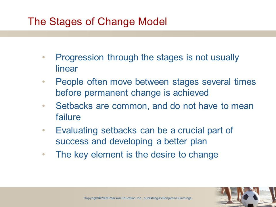 The Stages of Change Model