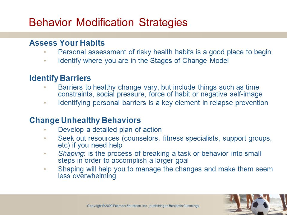 Behavior Modification Strategies