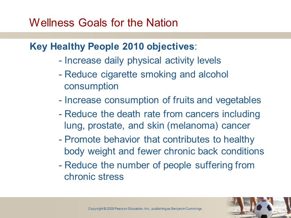 Wellness Goals for the Nation