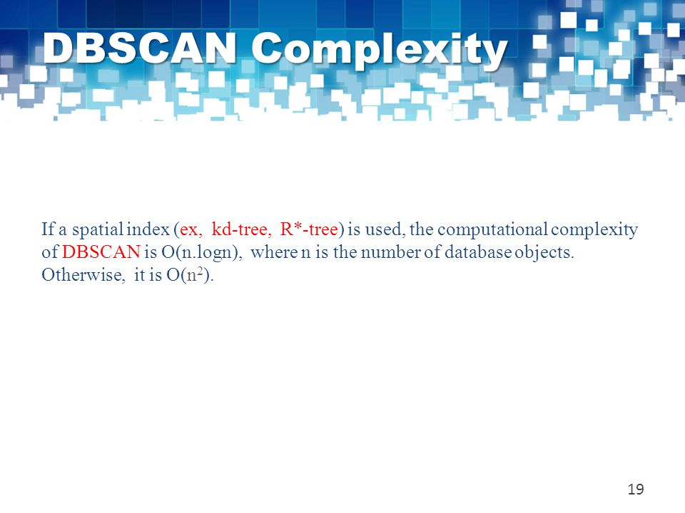 DBSCAN Complexity