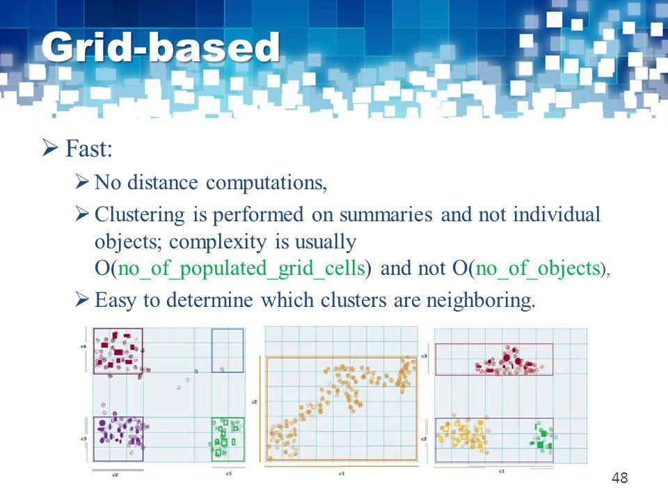 Grid-based Fast: No distance computations,
