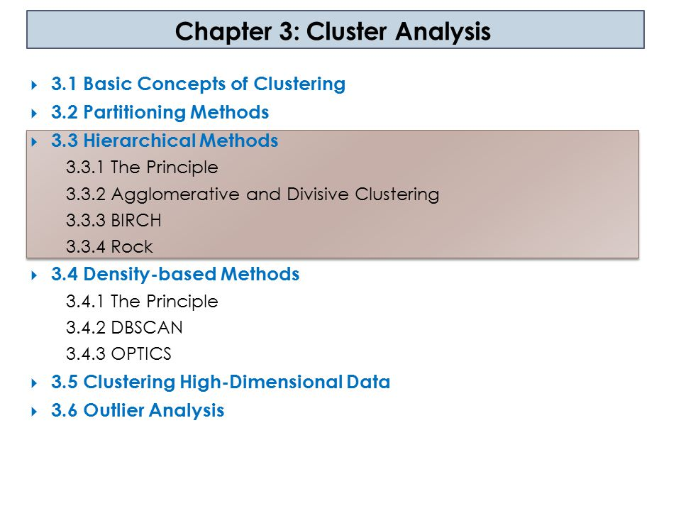 Chapter 3: Cluster Analysis
