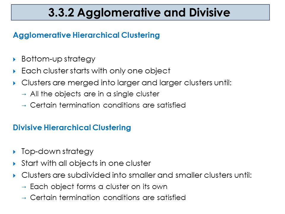 3.3.2 Agglomerative and Divisive
