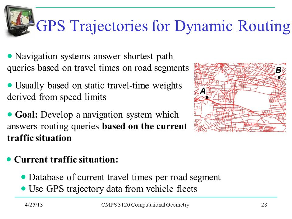 GPS Trajectories for Dynamic Routing