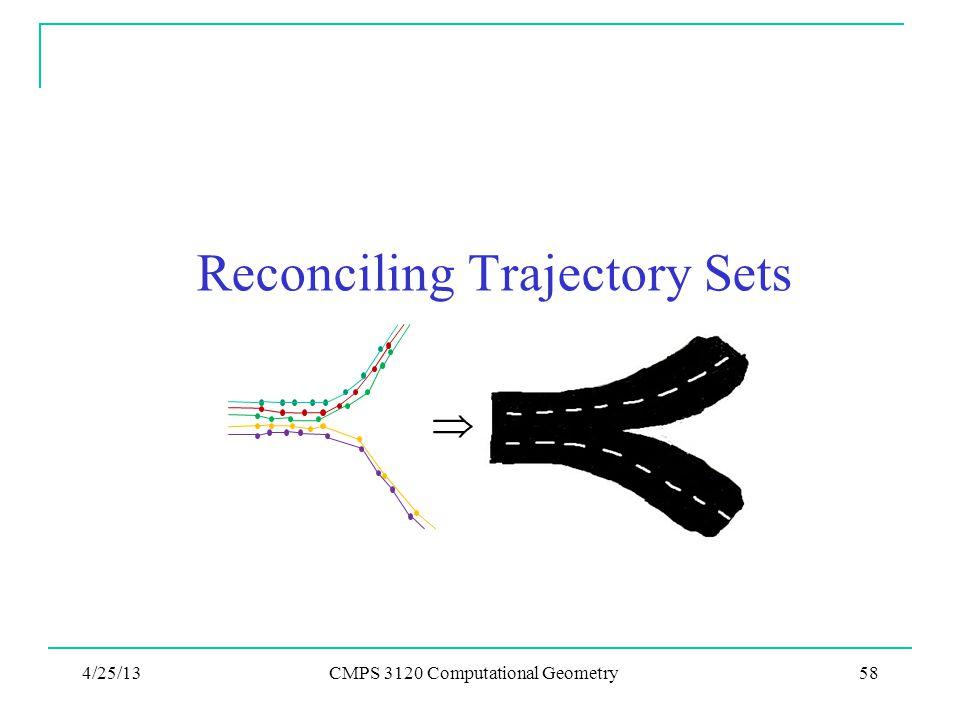 Reconciling Trajectory Sets