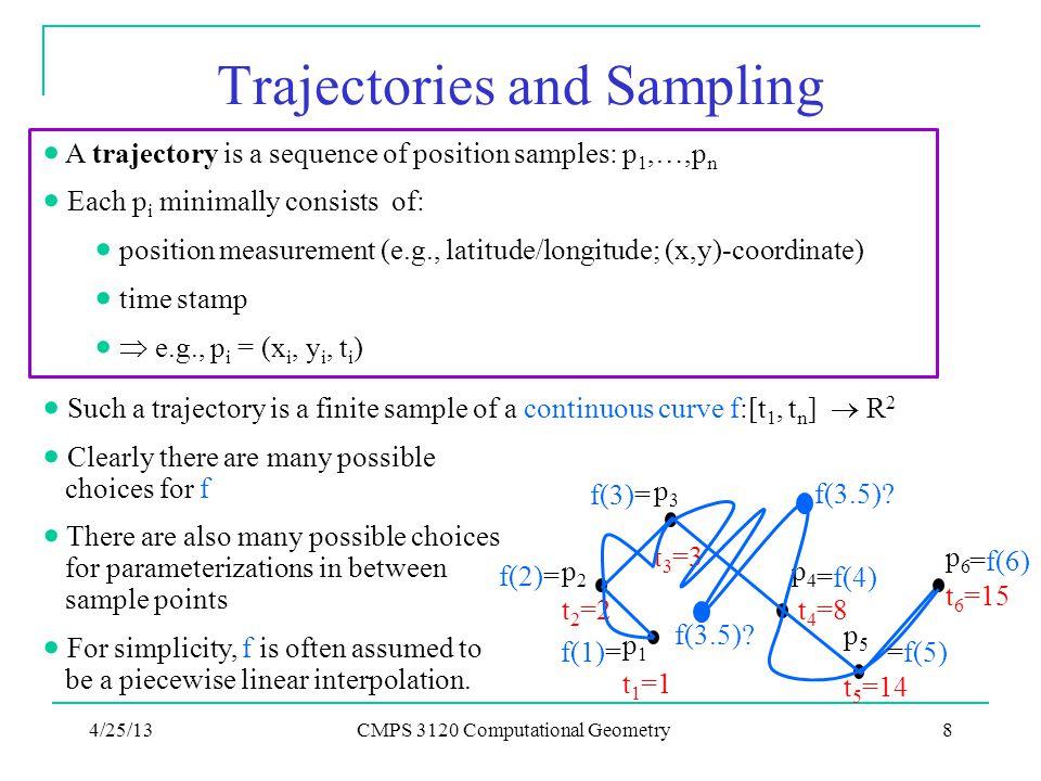 Trajectories and Sampling