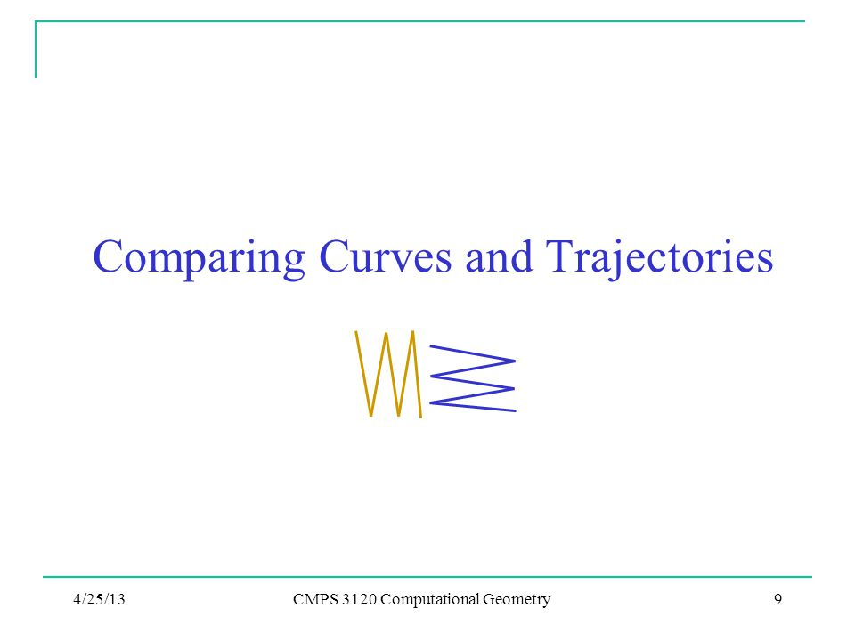 Comparing Curves and Trajectories
