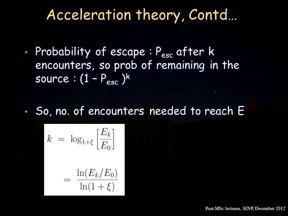 Acceleration theory, Contd…