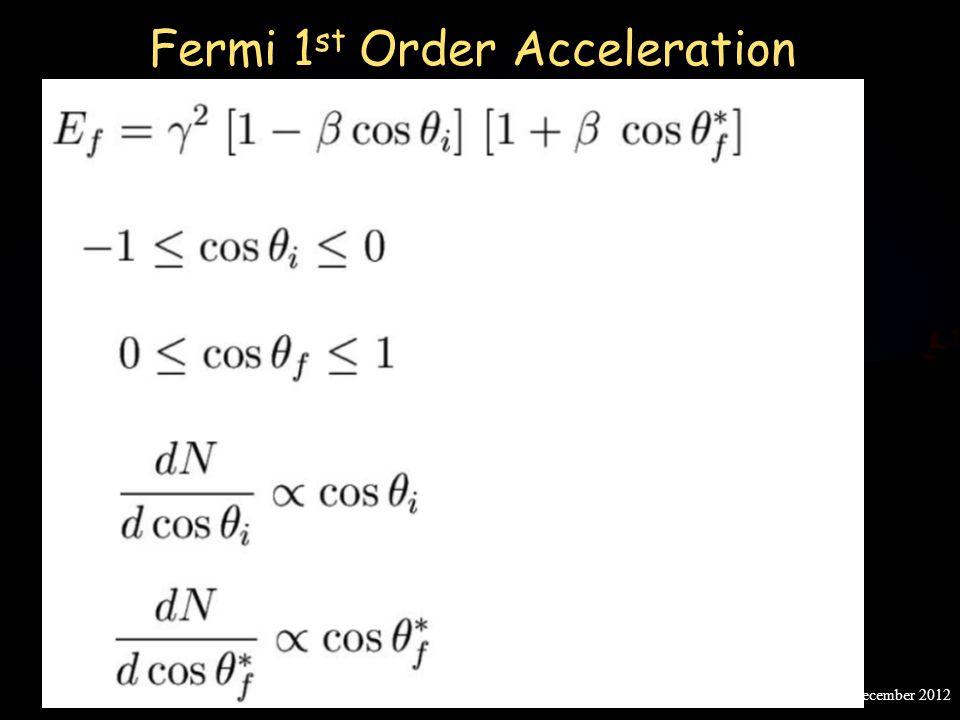 Fermi 1st Order Acceleration