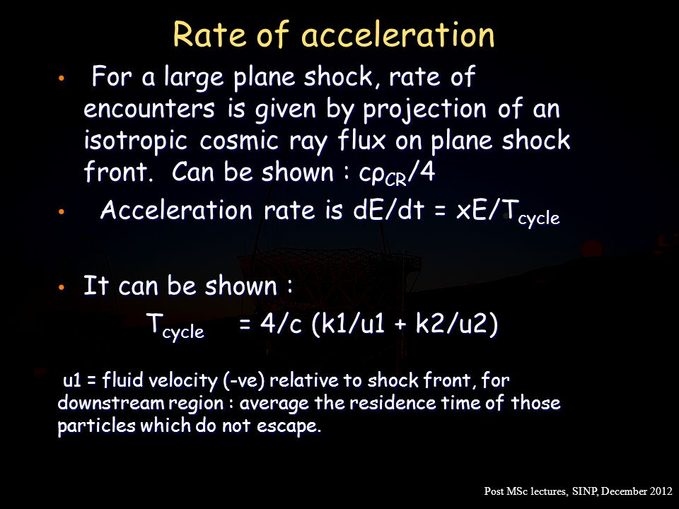 Rate of acceleration