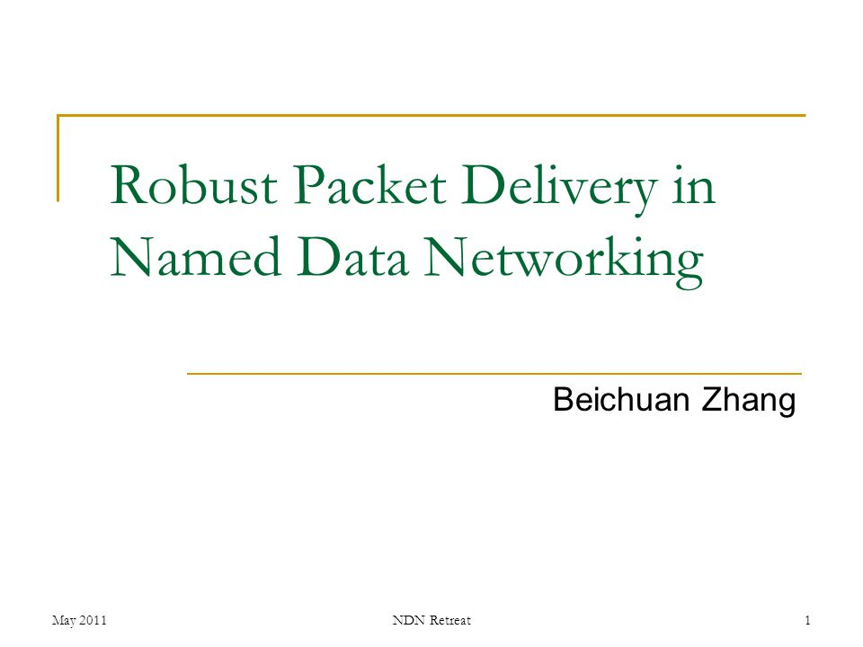 Robust Packet Delivery in Named Data Networking