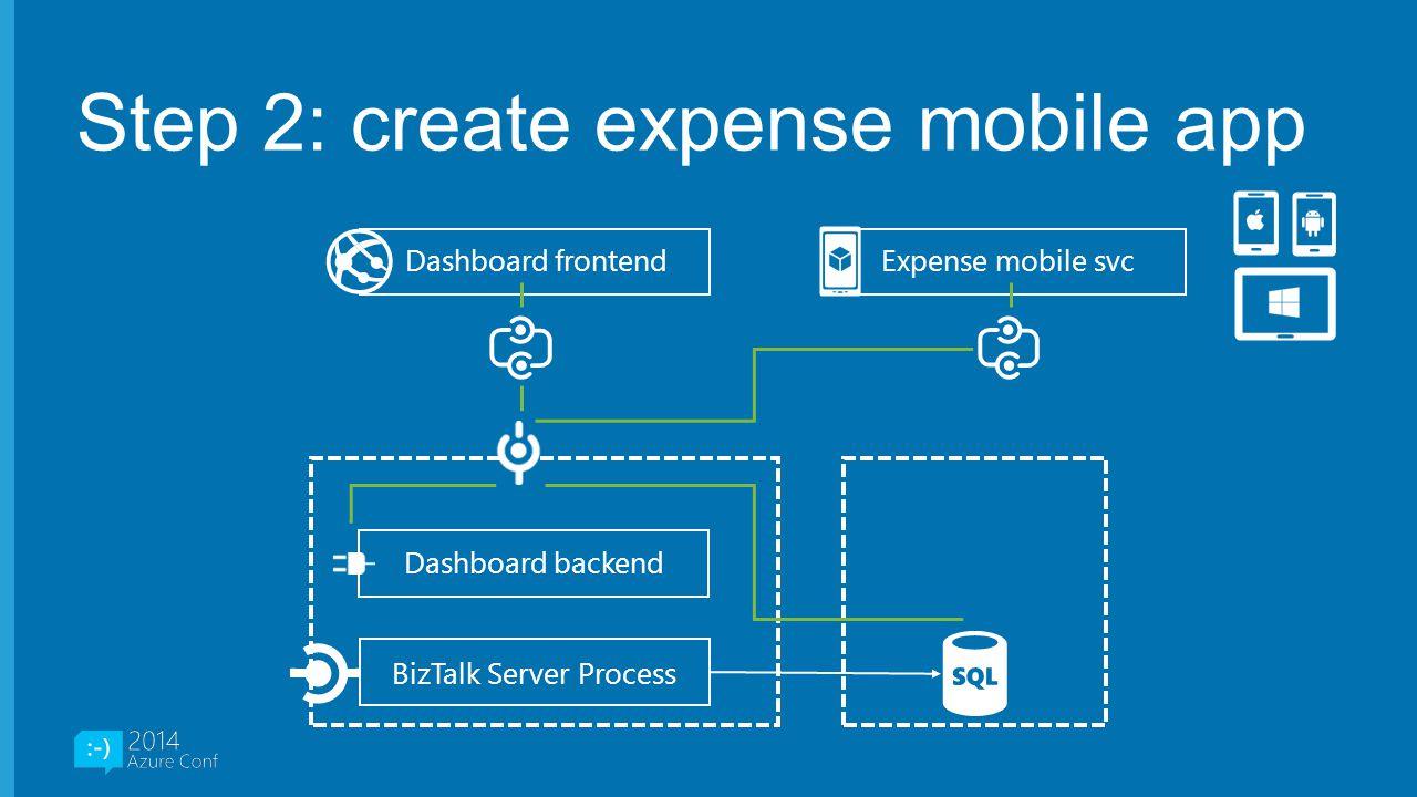 Step 2: create expense mobile app