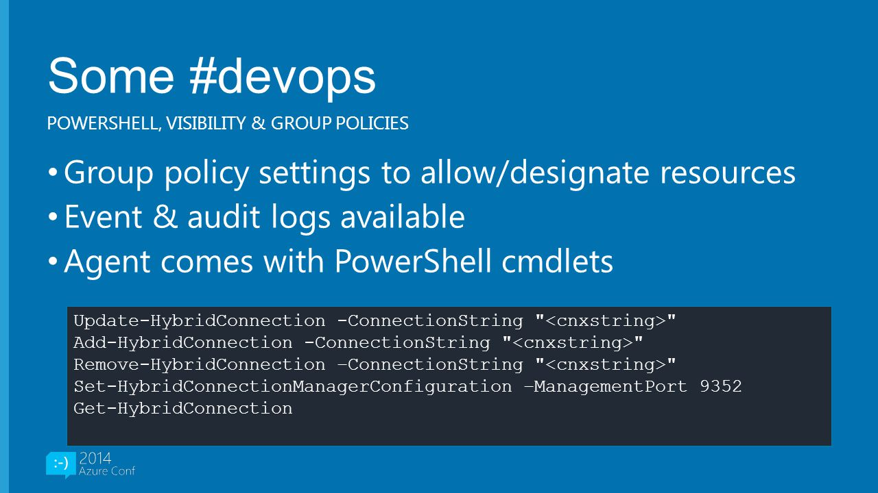 Some #devops Group policy settings to allow/designate resources