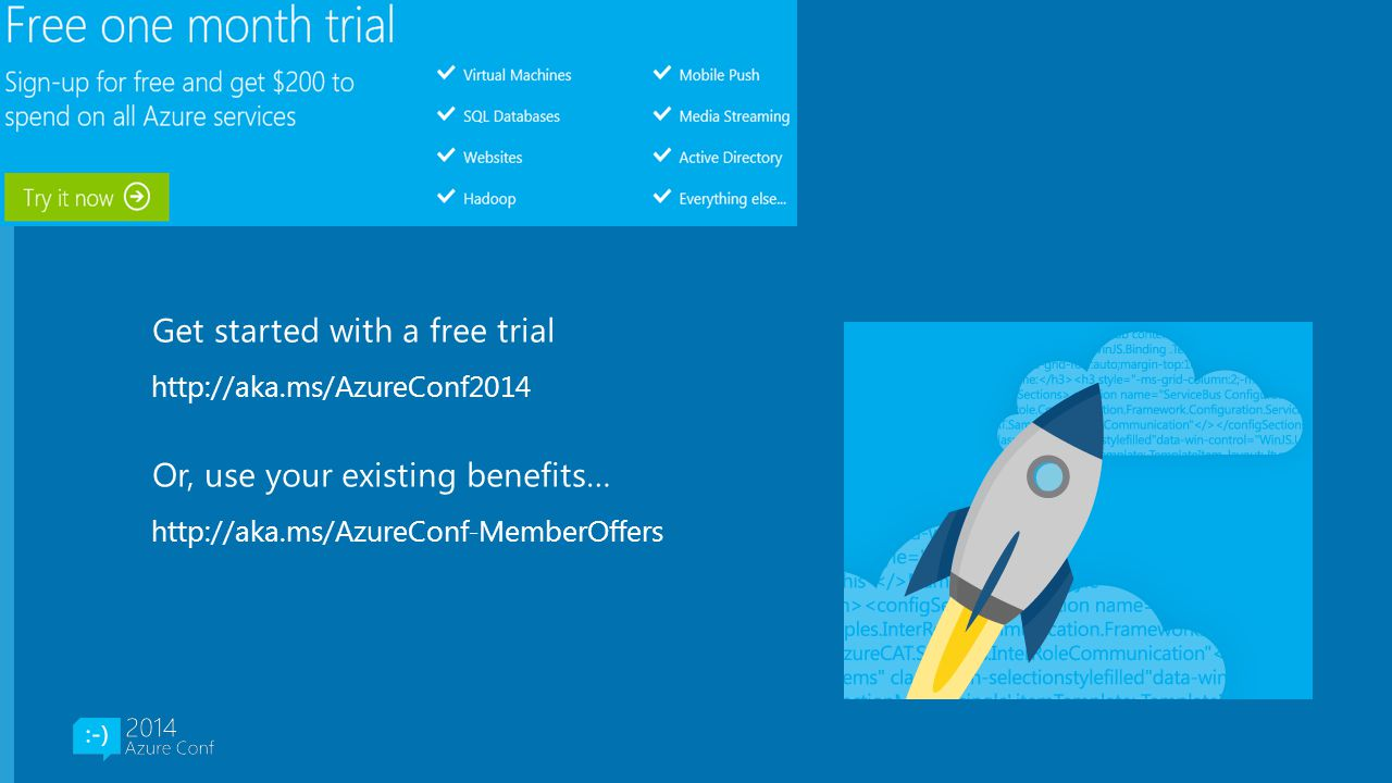 Get started with a free trial