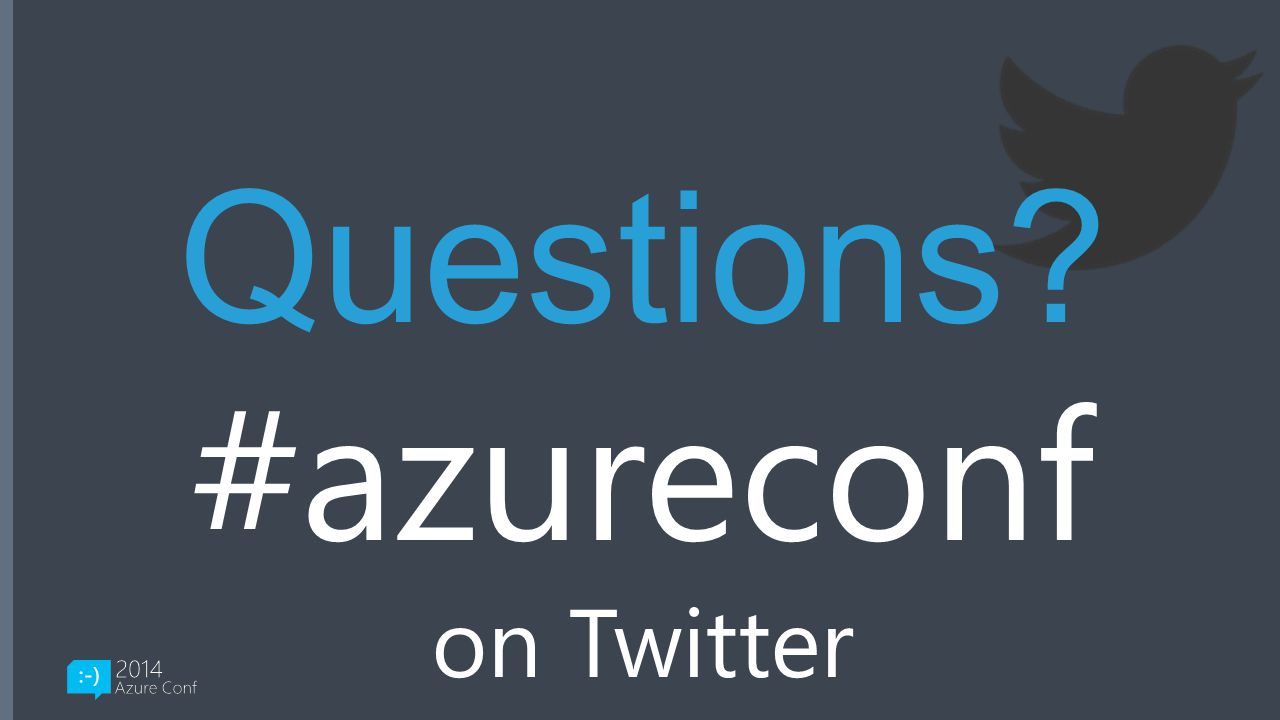 Questions #azureconf on Twitter