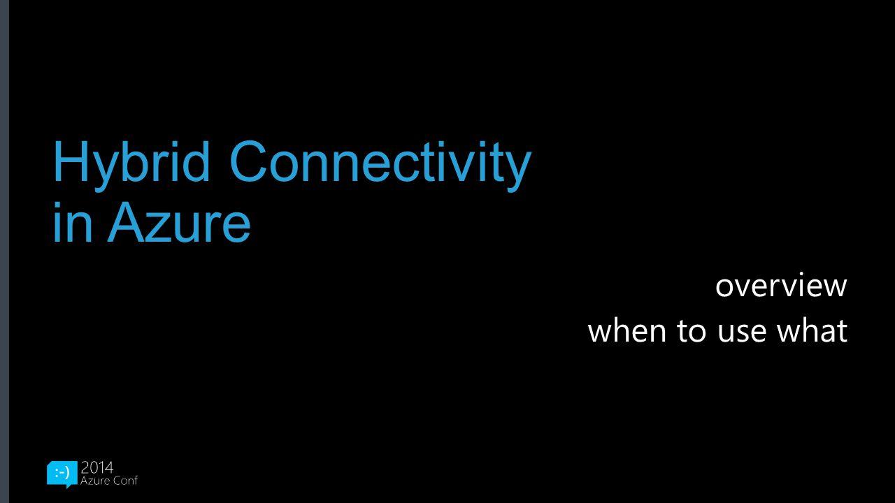 Hybrid Connectivity in Azure