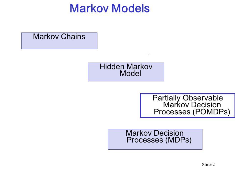 Markov Models Markov Chains Hidden Markov Model